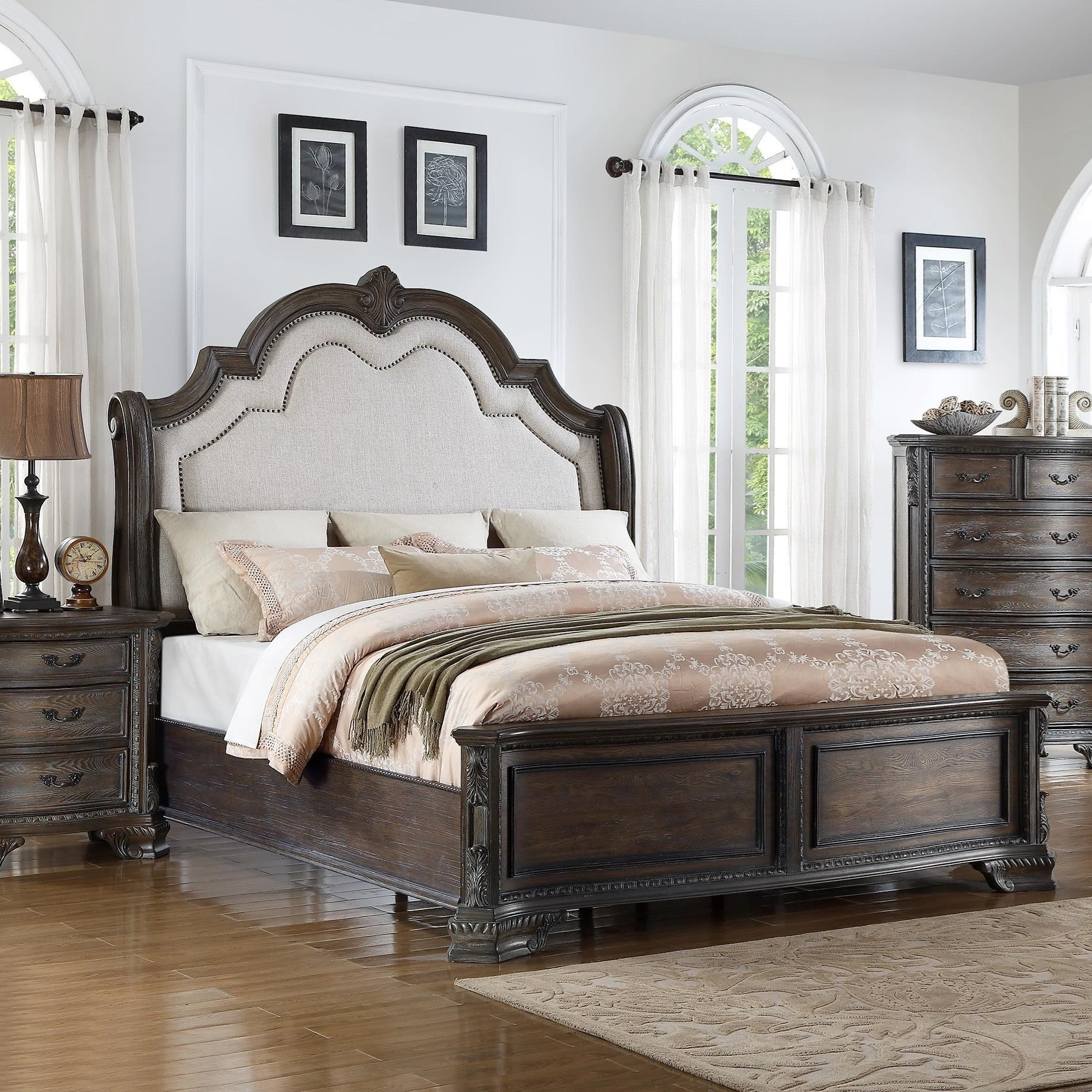 Sheffield King Panel Bed by Crown Mark at Northeast Factory Direct