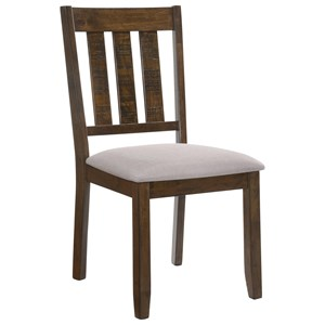 Upholstered Dining Chair with Slat Back