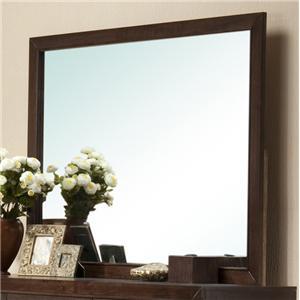 Simple Brown Framed Dresser Mirror