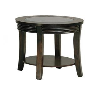 Glass-Top End Table