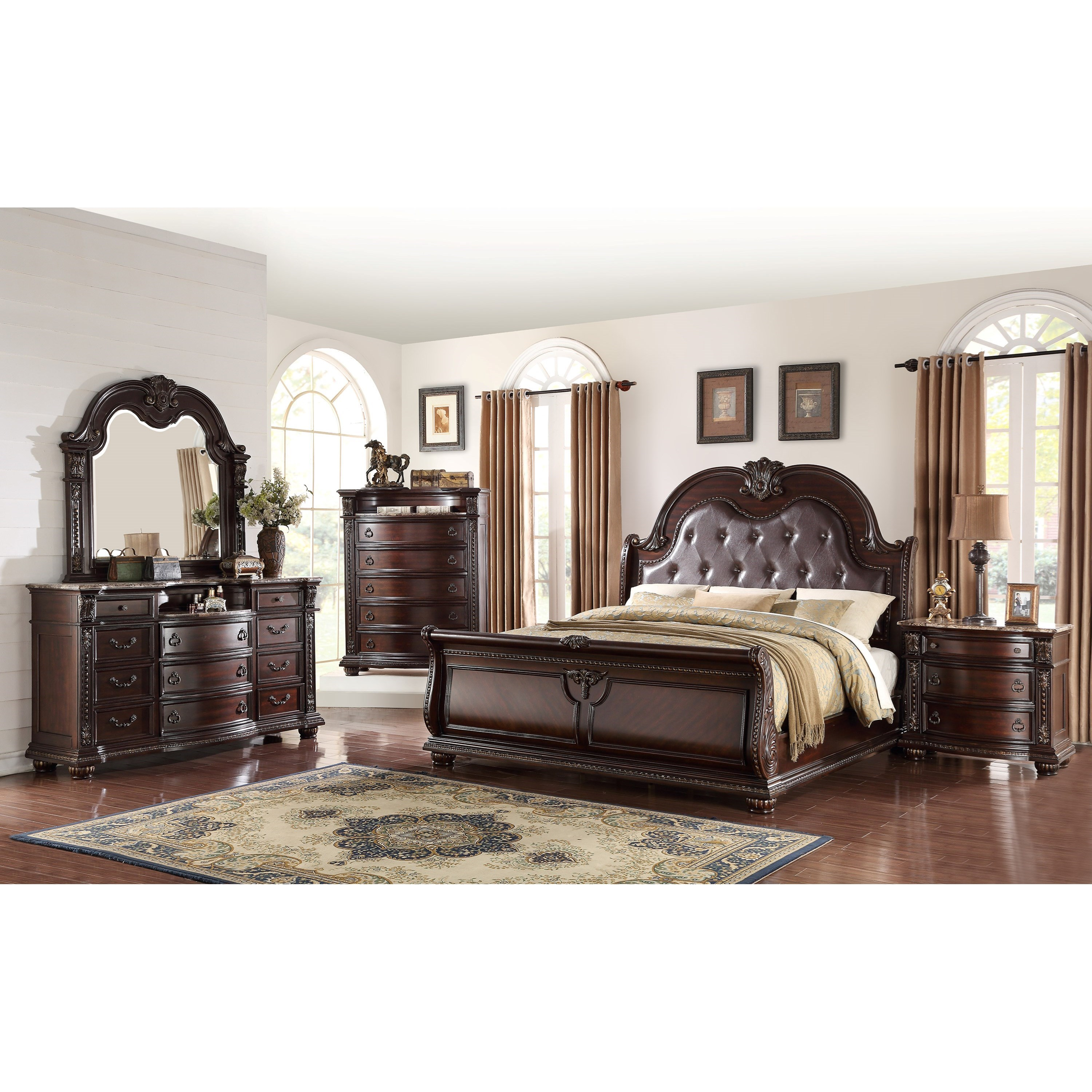 Stanley Bedroom California King Bedroom Group by Crown Mark at Northeast Factory Direct