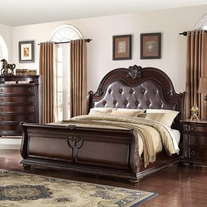 Traditional King Panel Bed