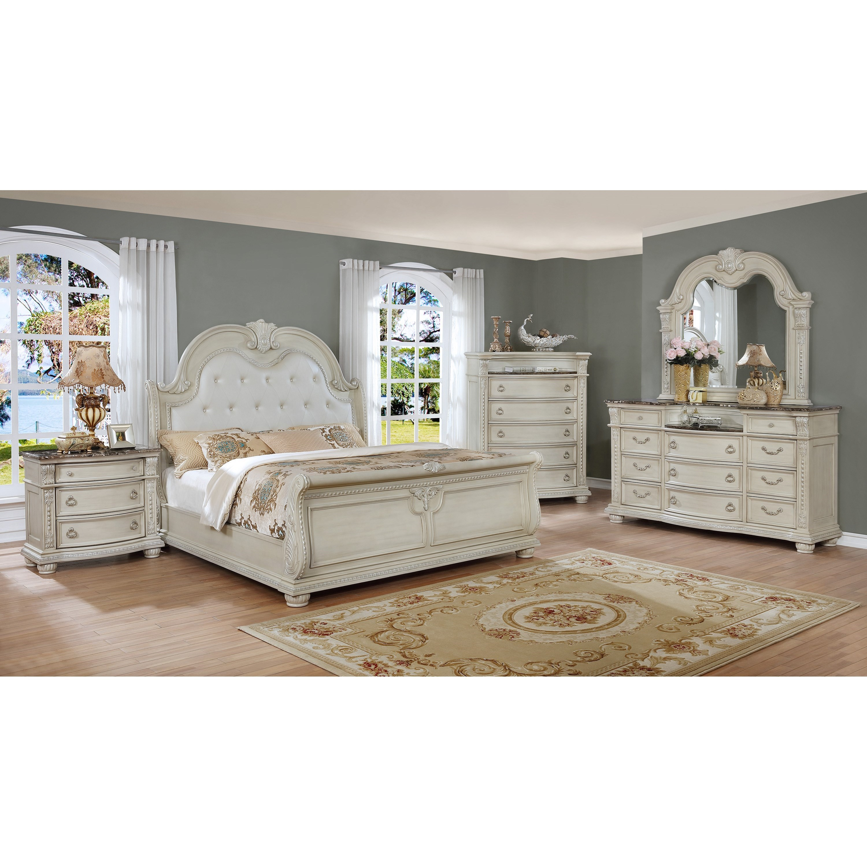Stanley California King Bedroom Group by Crown Mark at Northeast Factory Direct