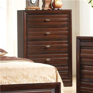 Tall 5 Drawer Chest with Oval Hardware Knobs