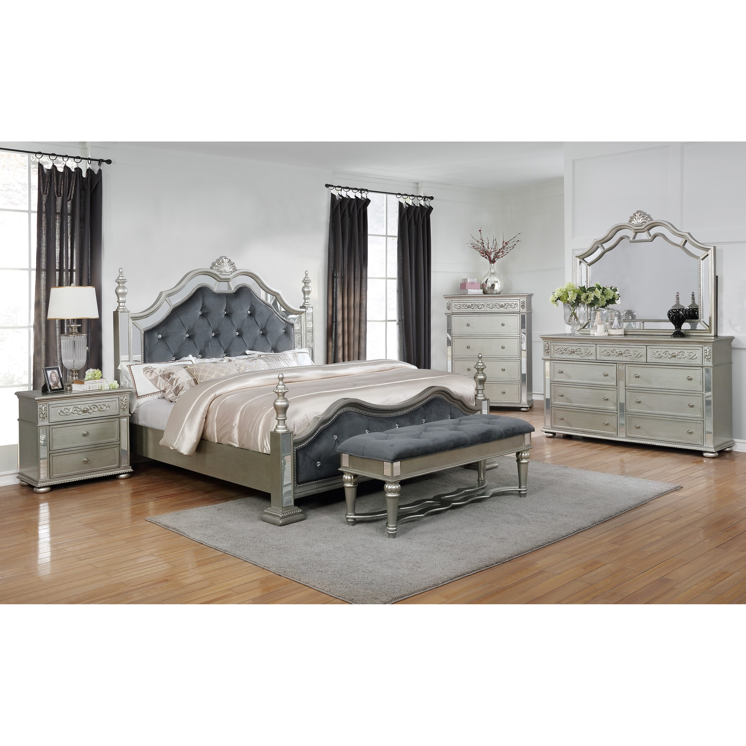 Sterling Queen Bedroom Group by Crown Mark at Northeast Factory Direct