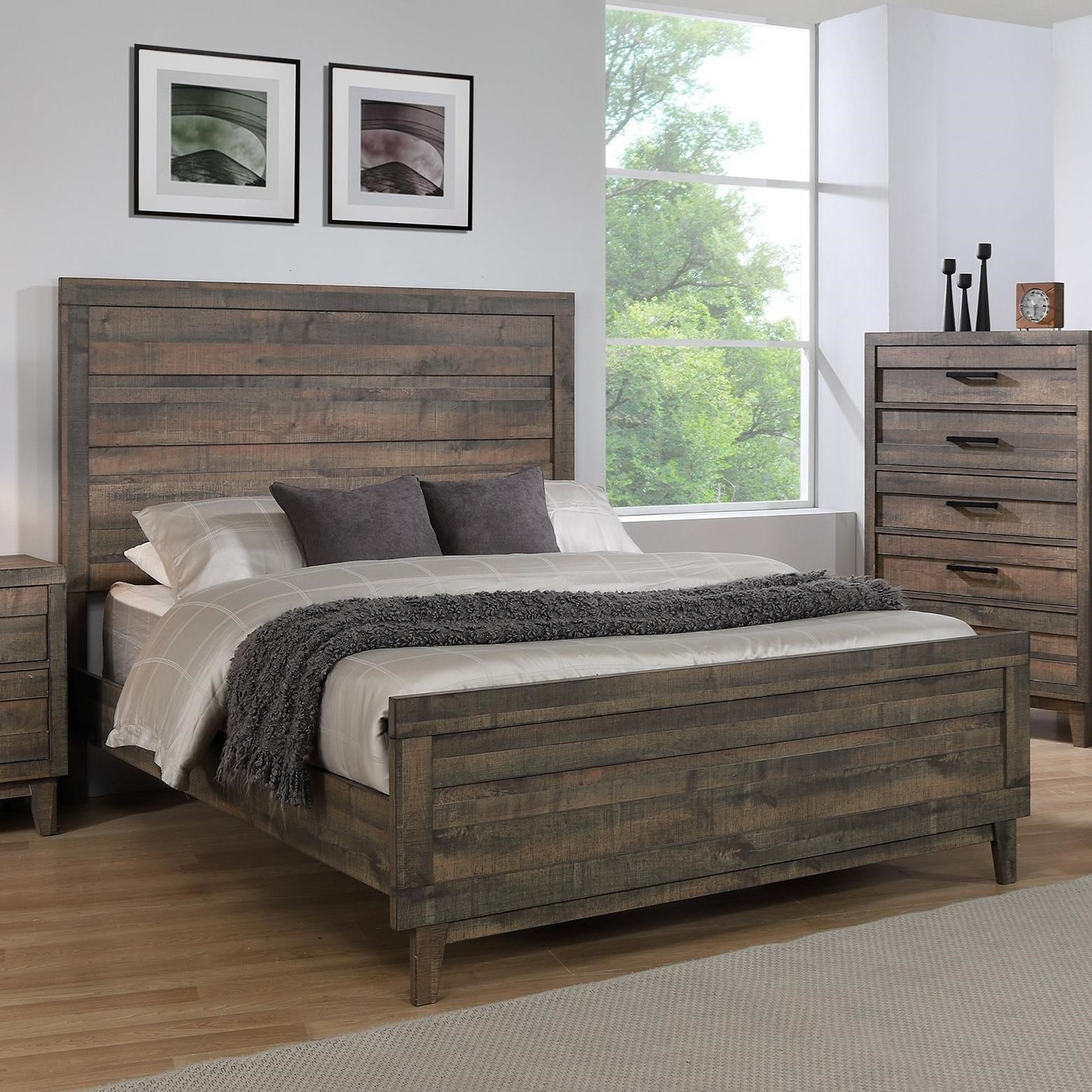 Tacoma California King Panel Bed by Crown Mark at Northeast Factory Direct