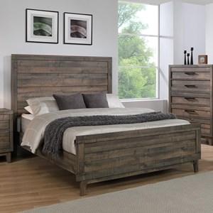 Rustic Full Headboard and Footboard Bed
