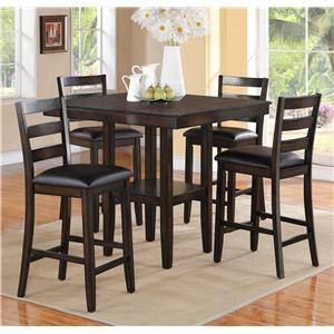 5 Piece Counter Height Table and Chairs Set