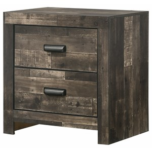 Contemporary Multicolor 2-Drawer Nightstand