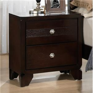 Nightstand with Trimmed Corners and Matching Feet
