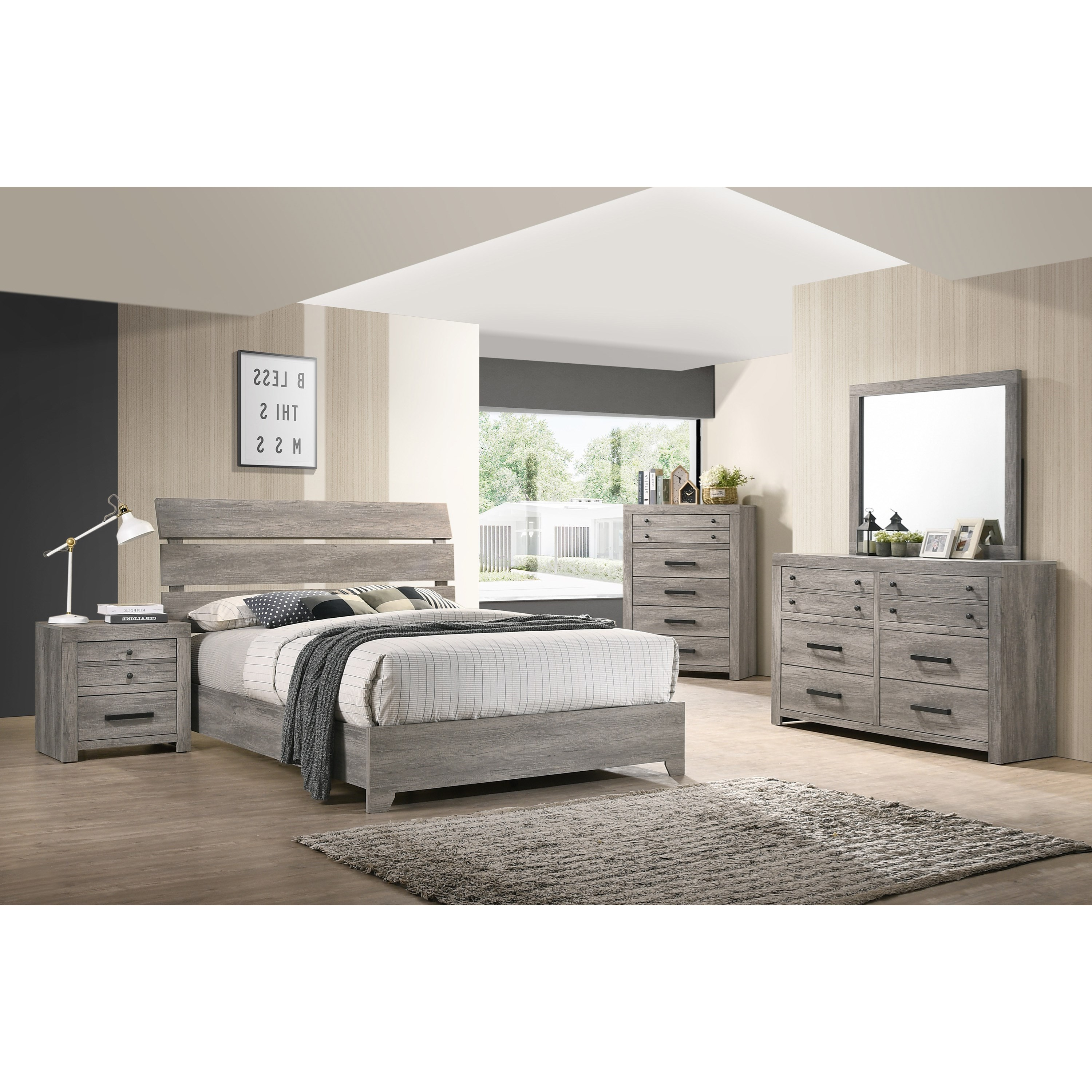 Tundra Queen Bedroom Group by Crown Mark at Northeast Factory Direct