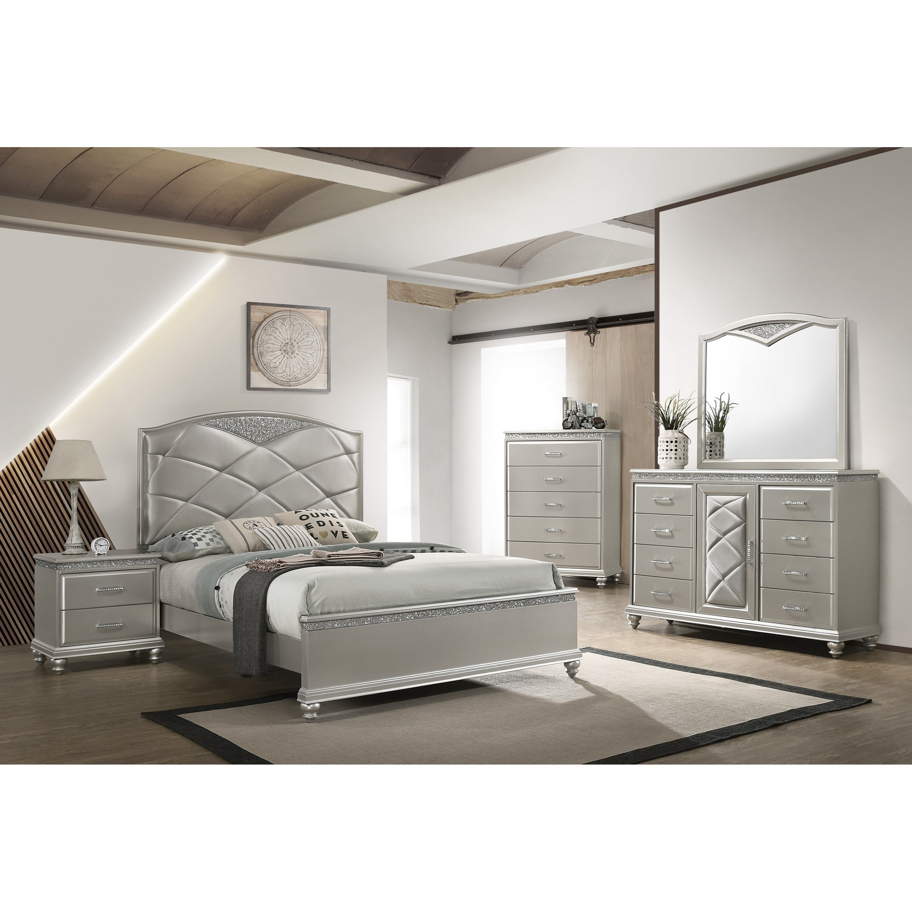 VALIANT King Bedroom Group by Crown Mark at Northeast Factory Direct