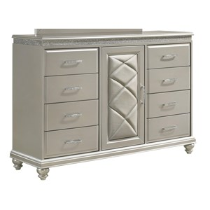 Glam Dresser with Door and Bun Feet