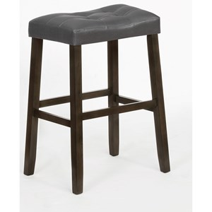 Verona Faux Leather Counter Height Saddle Stool