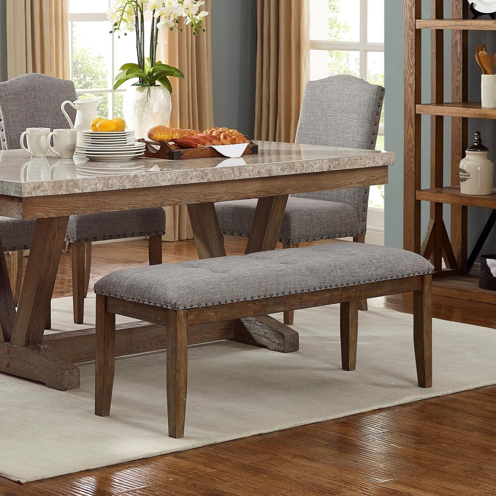Vesper Dining Bench by Crown Mark at Northeast Factory Direct