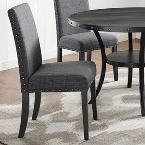 Transitional Dining Chair with Nailhead Trim