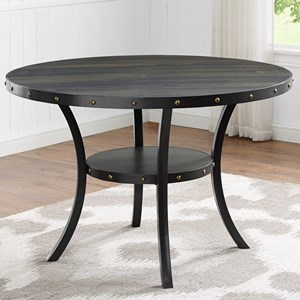 Transitional Melamine Table with Nailhead Trim