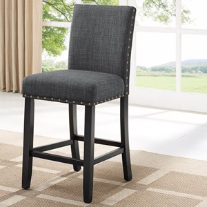 Transitional Counter Height Chair with Nailhead Trim