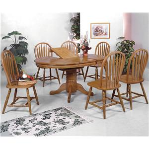 7 Piece Oval Dining Table and Side Chairs