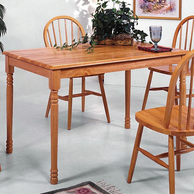 Windsor Solid Slim Rectangular Leg Dining Table by Crown Mark at Northeast Factory Direct
