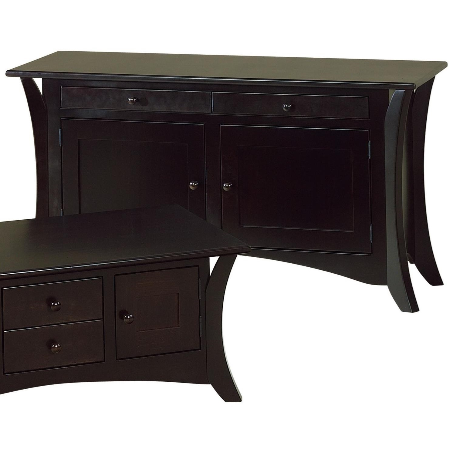 Caledonia Sofa Table by Crystal Valley Hardwoods at Saugerties Furniture Mart