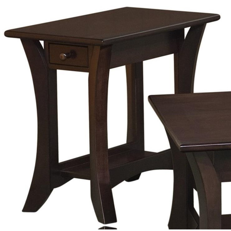 Catalina Chairside Table by Crystal Valley Hardwoods at Saugerties Furniture Mart