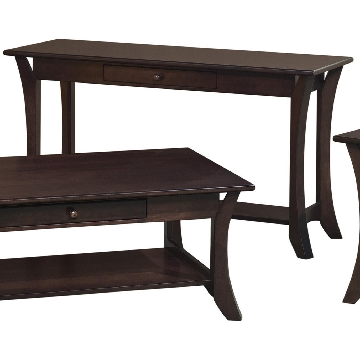 Catalina Sofa Table by Crystal Valley Hardwoods at Saugerties Furniture Mart