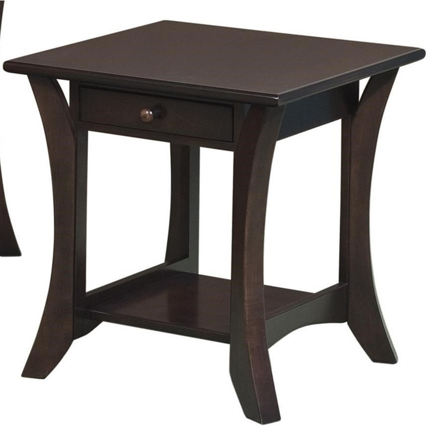 Catalina End Table by Crystal Valley Hardwoods at Saugerties Furniture Mart