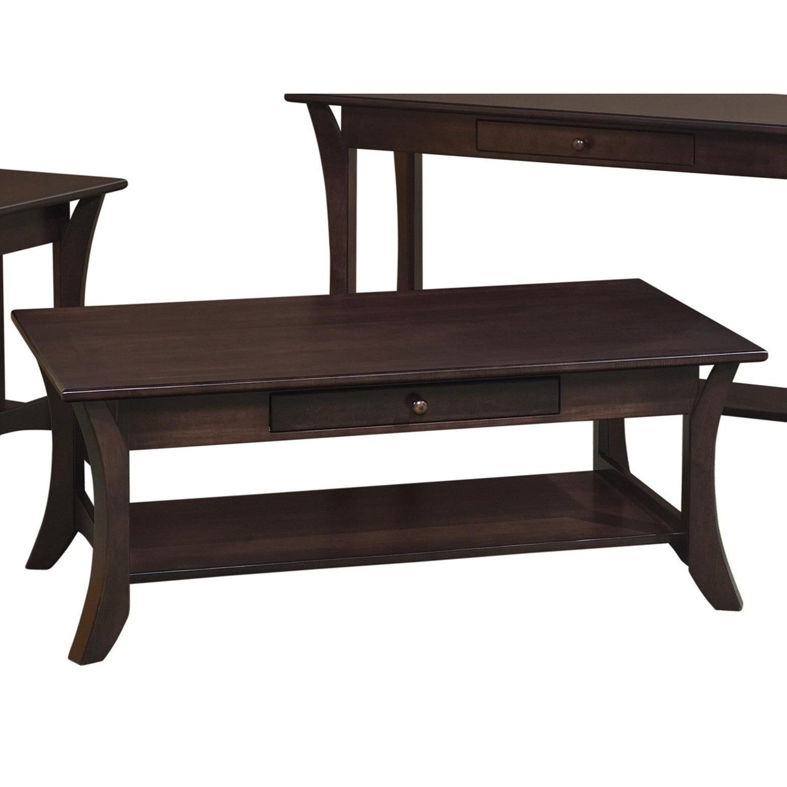 Catalina Coffee Table by Crystal Valley Hardwoods at Saugerties Furniture Mart