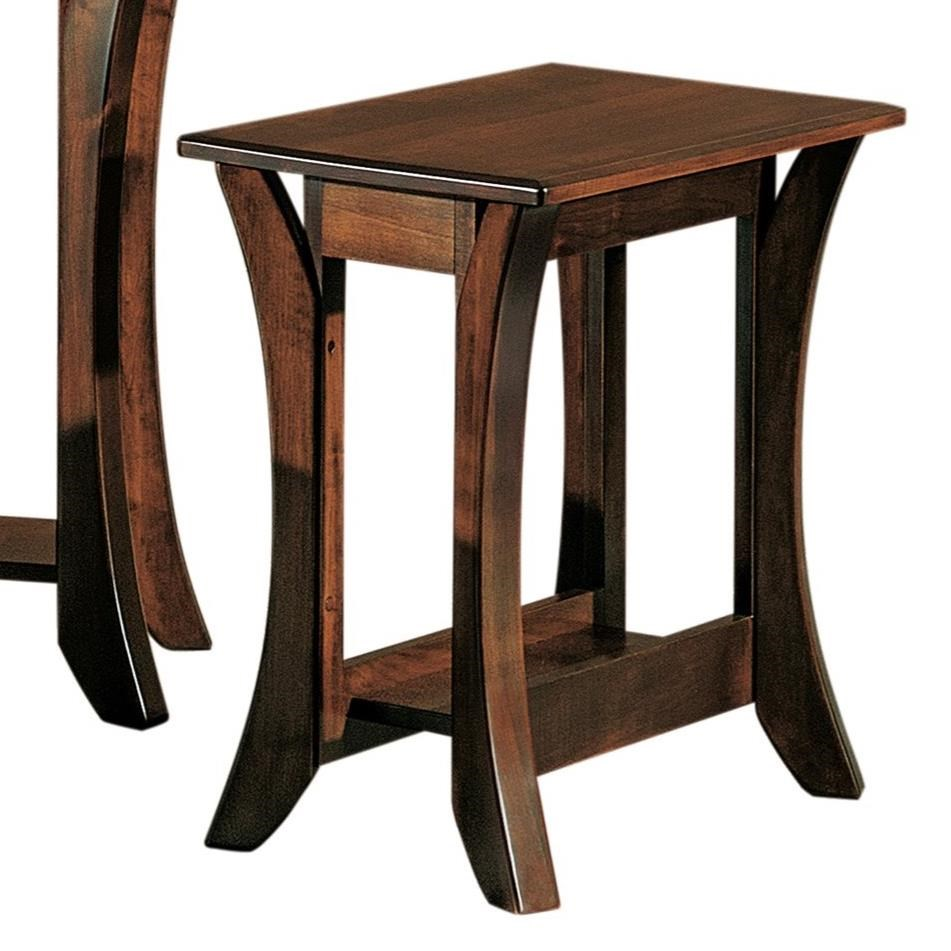 Discovery End Table by Crystal Valley Hardwoods at Saugerties Furniture Mart