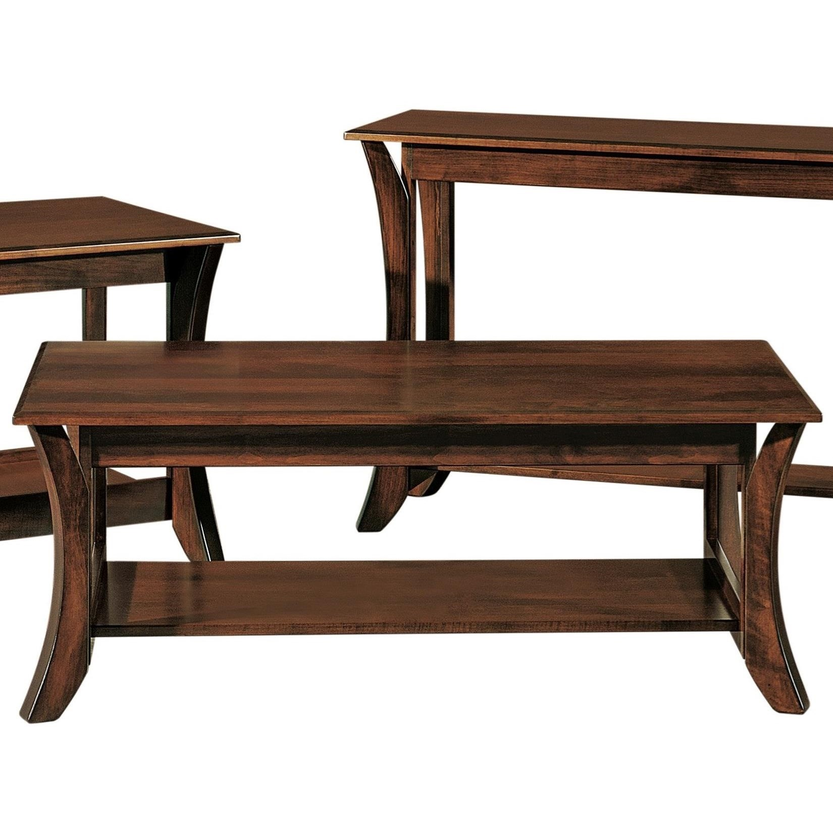 Discovery Coffee Table by Crystal Valley Hardwoods at Saugerties Furniture Mart