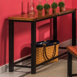 Sofa Table with Metal Frame