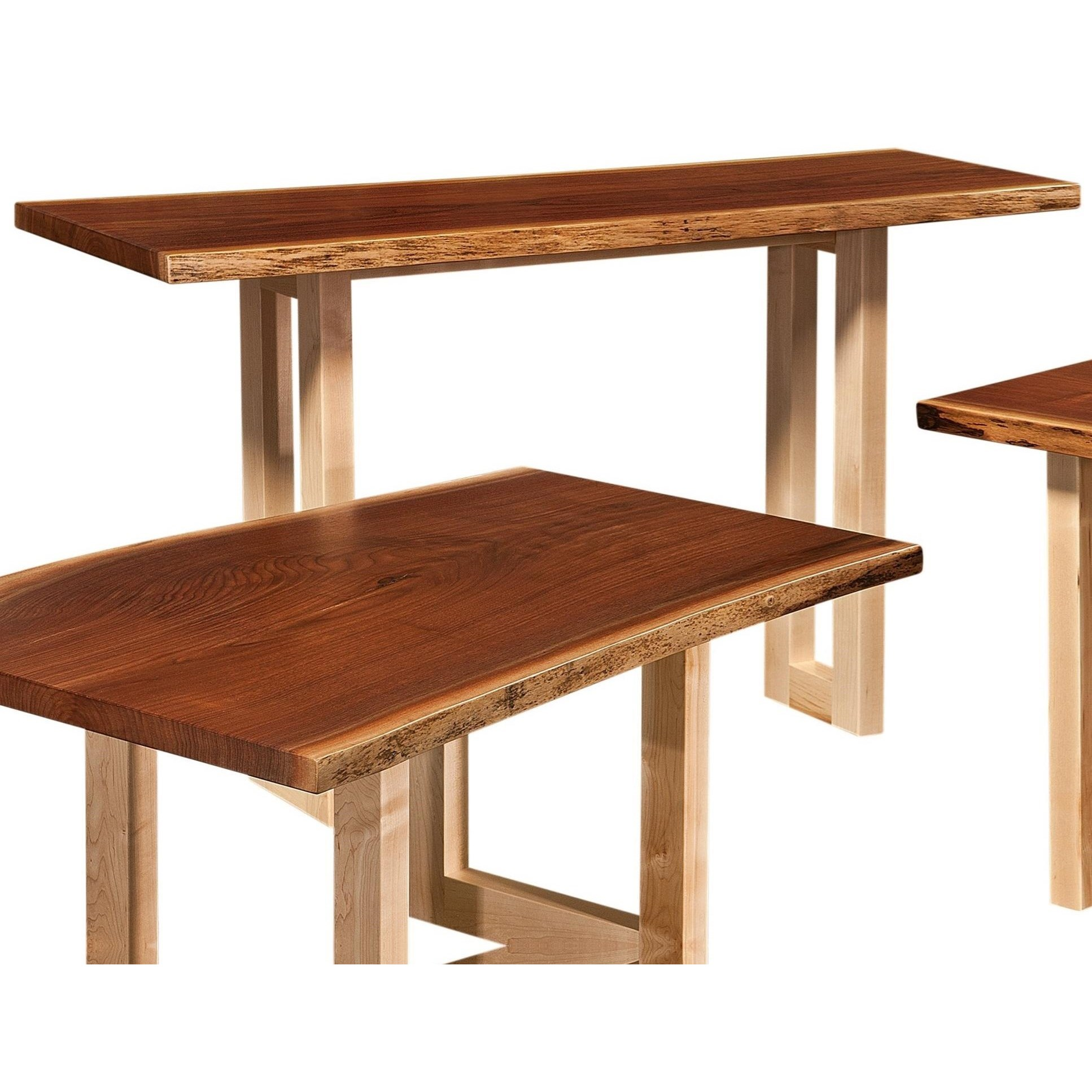 Kalispel Live Edge Sofa Table by Crystal Valley Hardwoods at Saugerties Furniture Mart