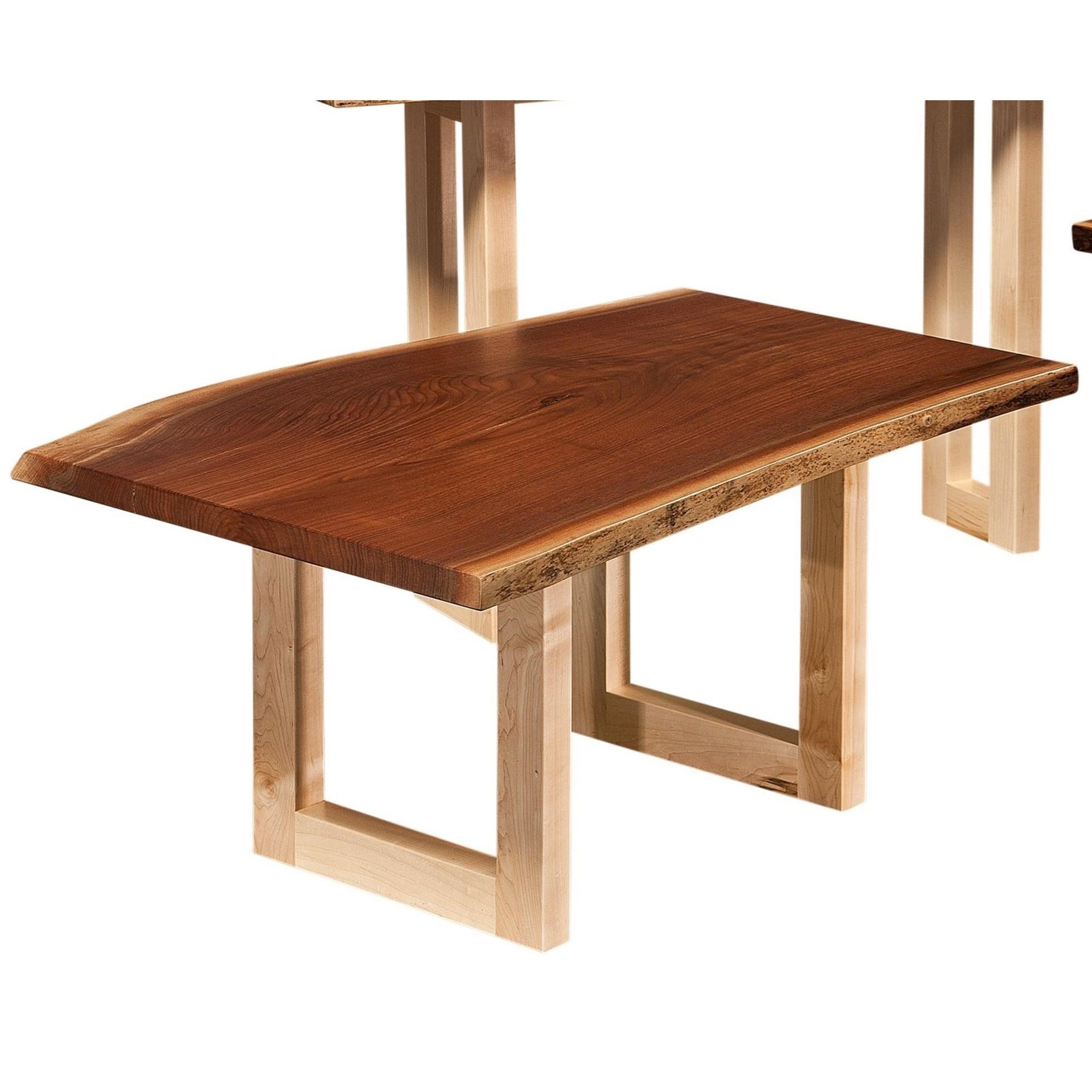 Kalispel Live Edge Coffee Table by Crystal Valley Hardwoods at Saugerties Furniture Mart