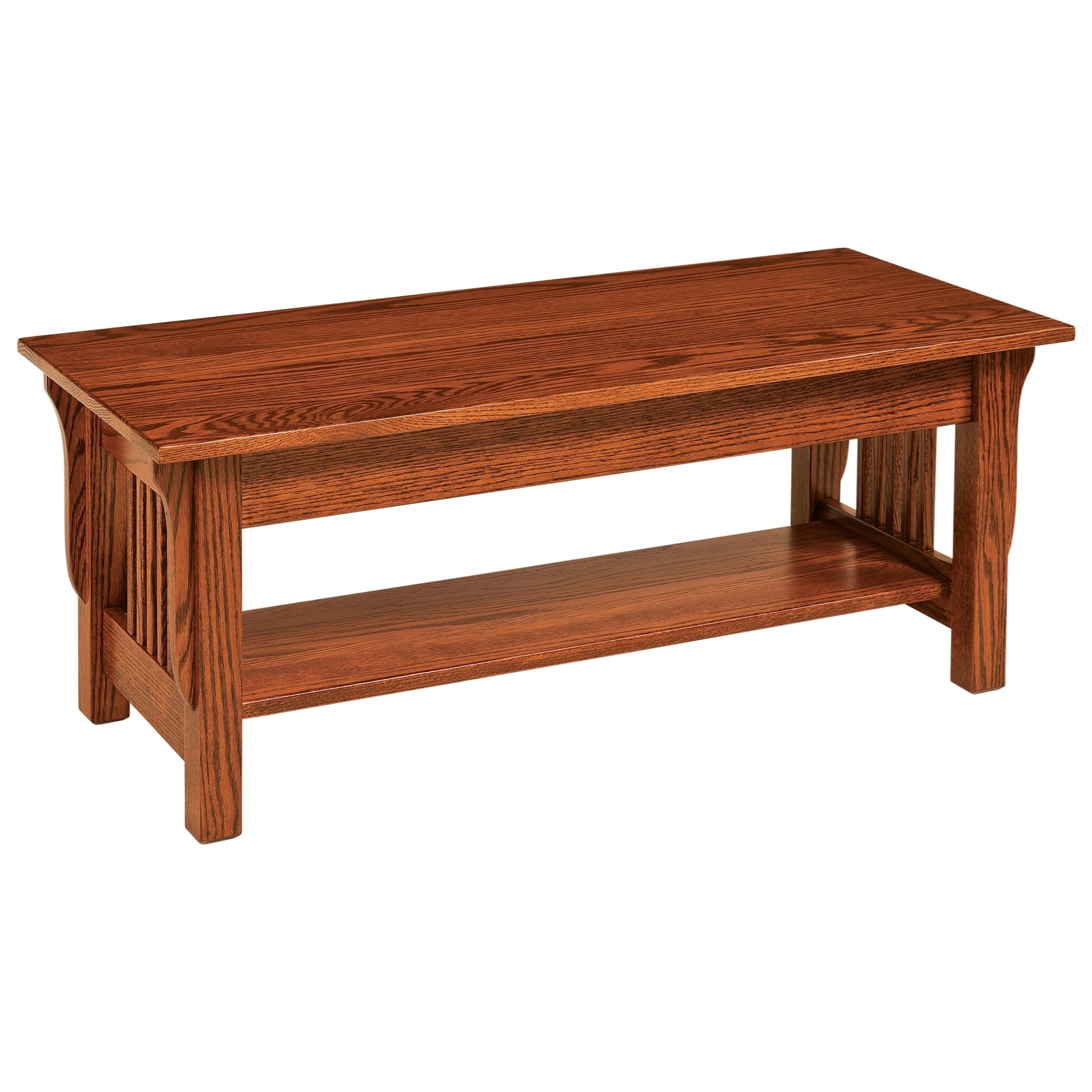 Leah Coffee Table by Crystal Valley Hardwoods at Saugerties Furniture Mart