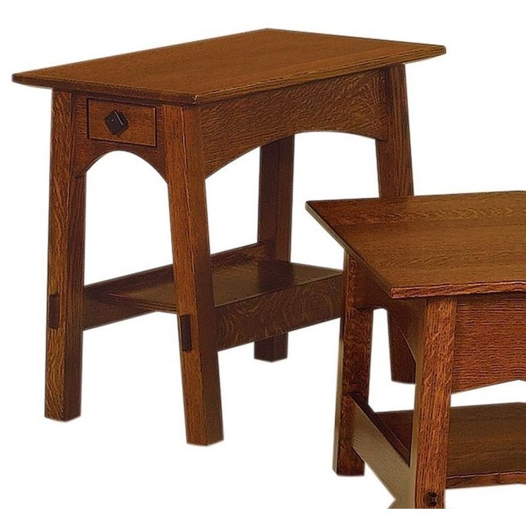 McCoy End Table by Crystal Valley Hardwoods at Saugerties Furniture Mart