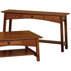 Sofa Table with Dovetail Drawer