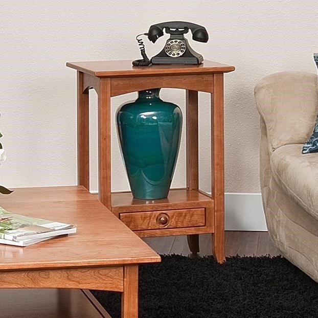 Shaker Hill Phone Stand by Crystal Valley Hardwoods at Saugerties Furniture Mart