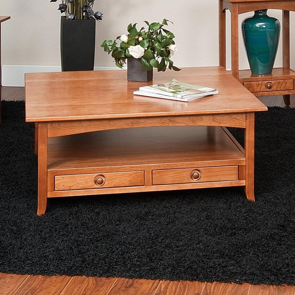Shaker Hill Coffee Table by Crystal Valley Hardwoods at Saugerties Furniture Mart