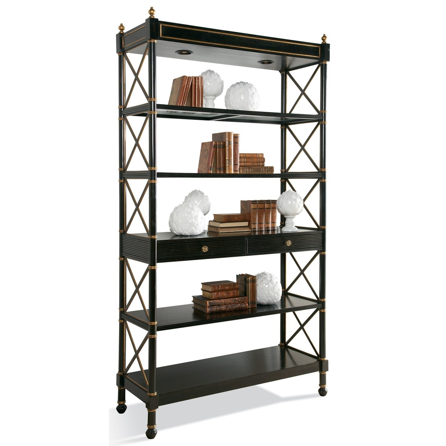 Masterpiece Empire Etagere by CTH Sherrill Occasional at Baer's Furniture