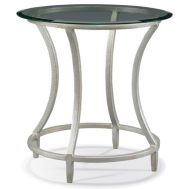 Masterpiece - Stippled Platinum Side Table by CTH Sherrill Occasional at Baer's Furniture