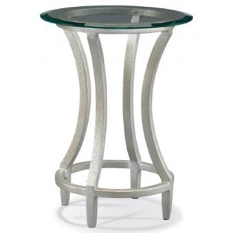 Masterpiece - Stippled Platinum Drink Table by CTH Sherrill Occasional at Baer's Furniture