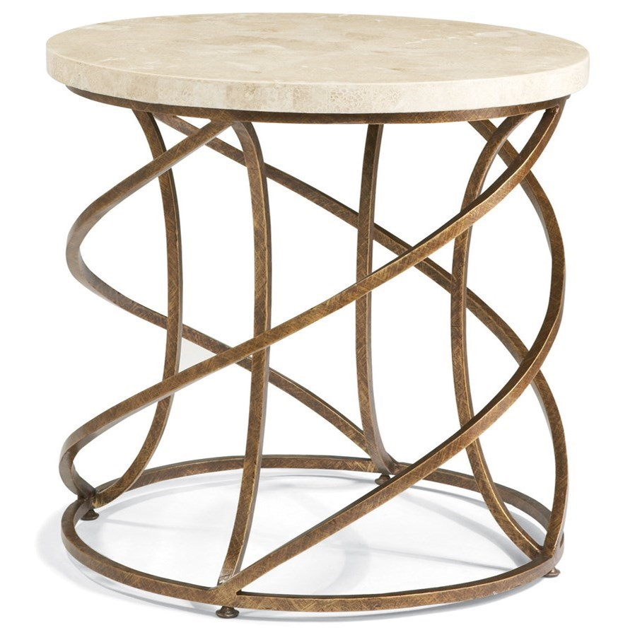 Masterpiece - Boing Round Lamp Table by CTH Sherrill Occasional at Baer's Furniture