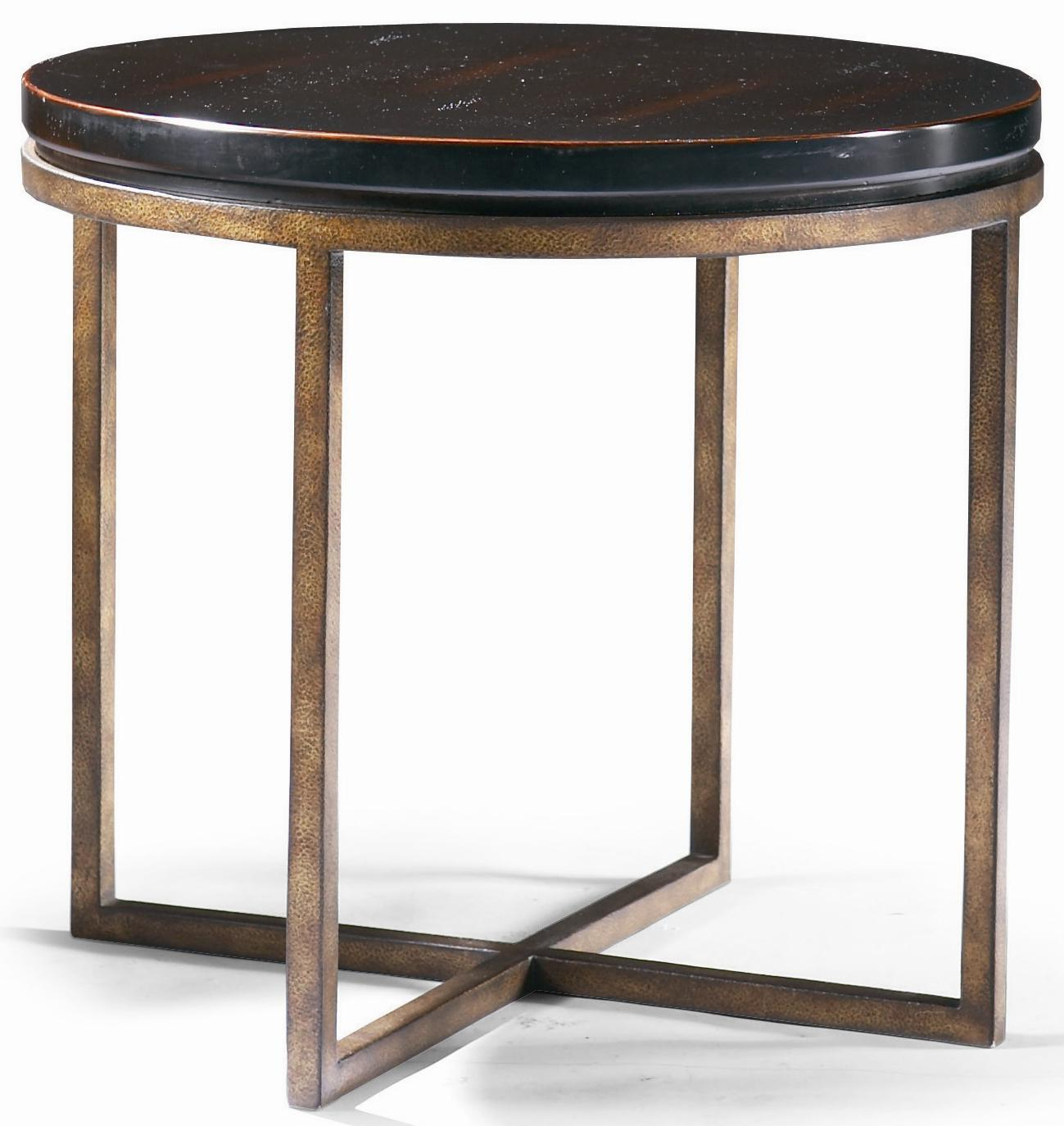 Metro Classics Round Lamp Table by CTH Sherrill Occasional at Baer's Furniture