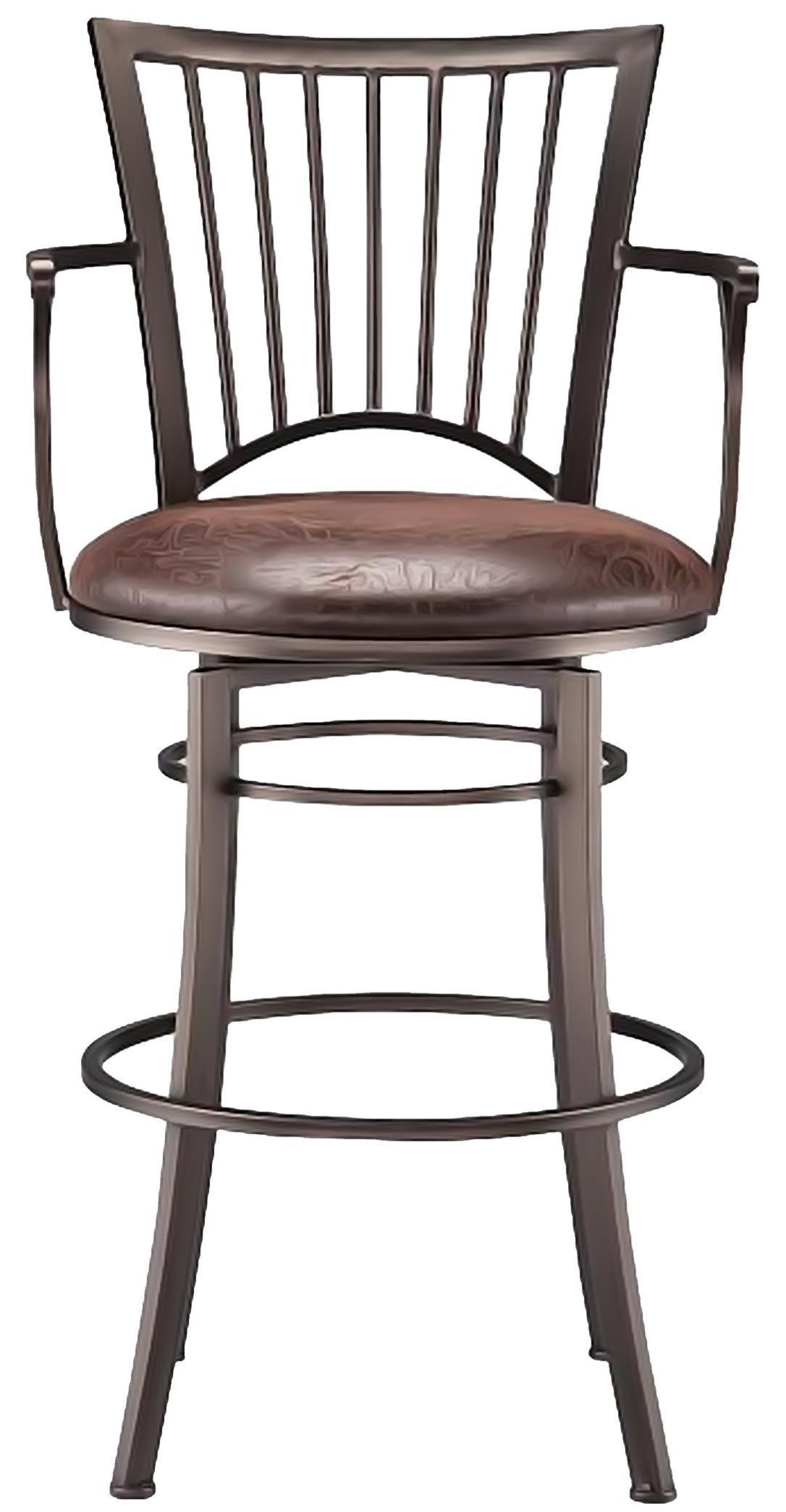 Bar Stools Accent Morgan Swivel bar height bar Stool at Walker's Furniture