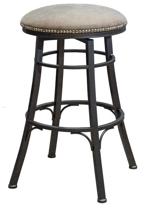 Trendy  Bali Swivel bar height Bar stool at Walker's Furniture