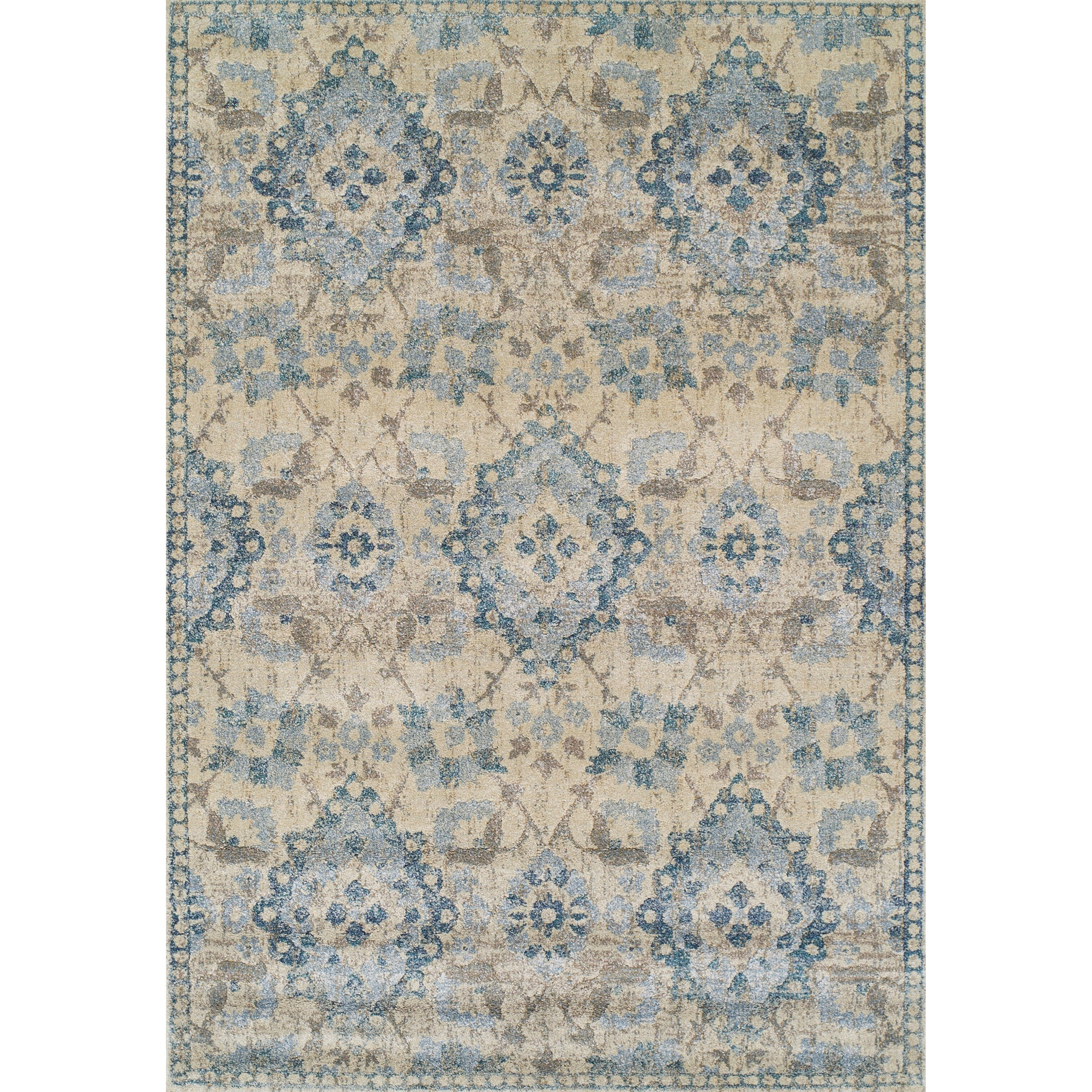 """Antigua Linen 3'3""""X5'3"""" Area Rug by Dalyn at Fashion Furniture"""