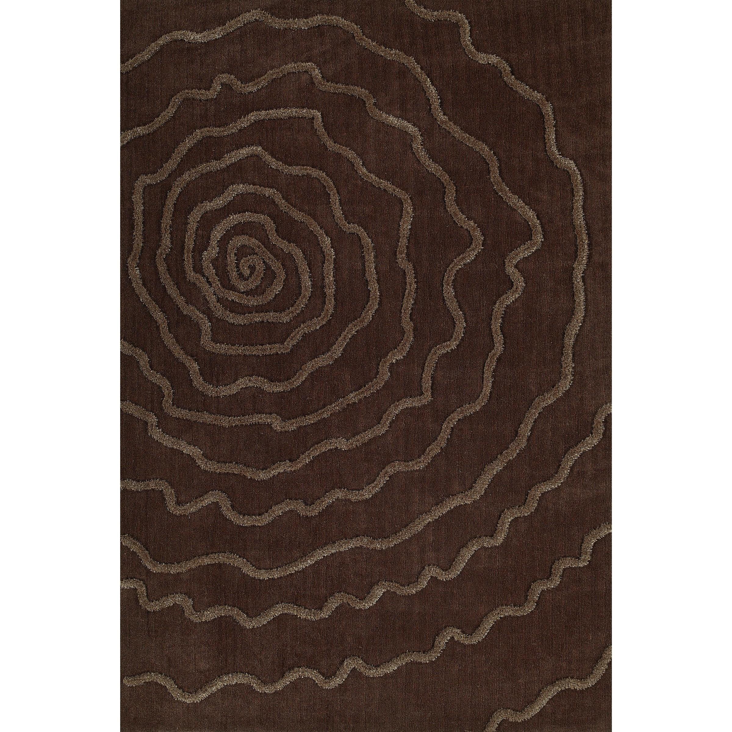 "Dakota Chocolate 5'X7'6"" Area Rug by Dalyn at Fashion Furniture"