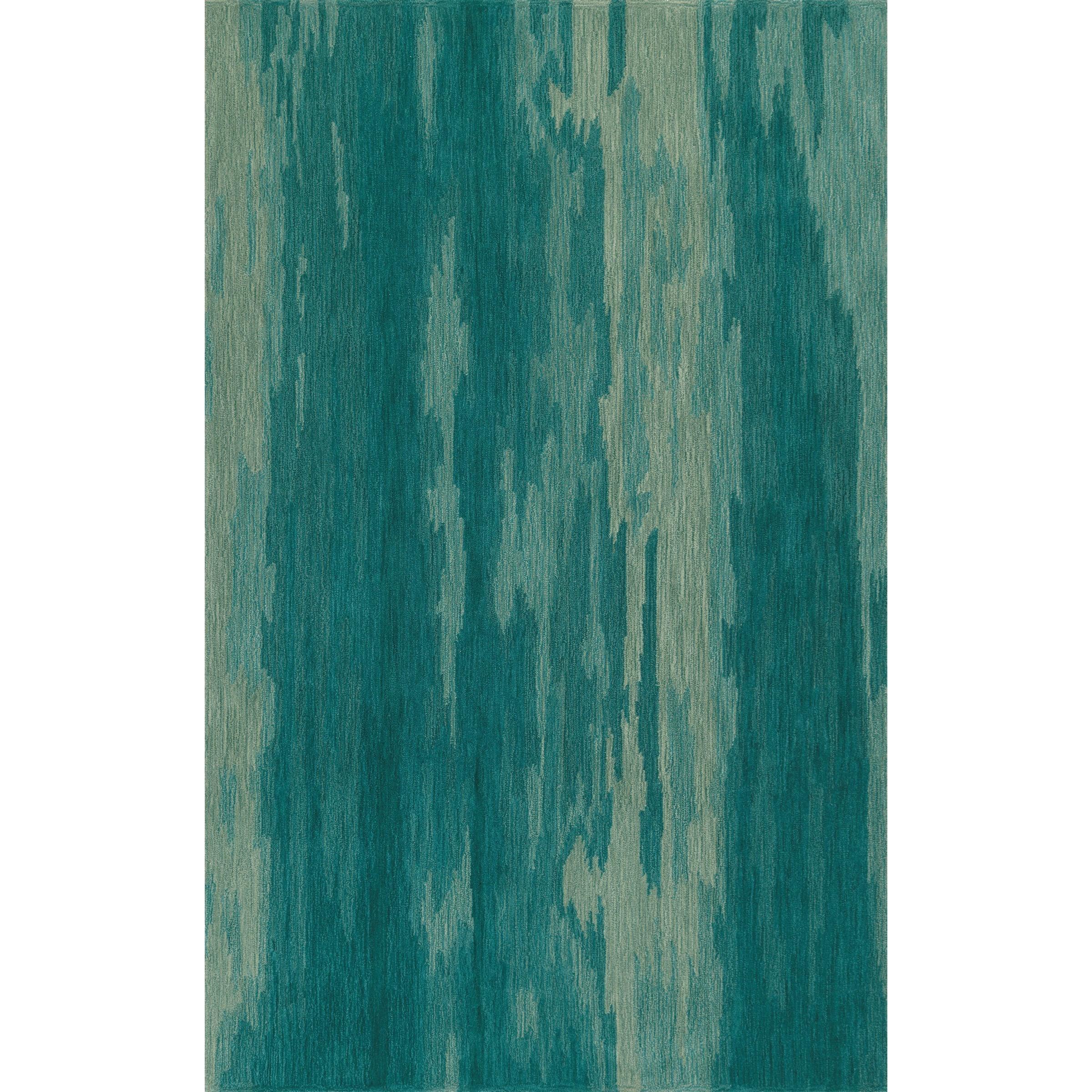 """DelMar Aqua 3'6""""X5'6"""" Rug by Dalyn at Sadler's Home Furnishings"""
