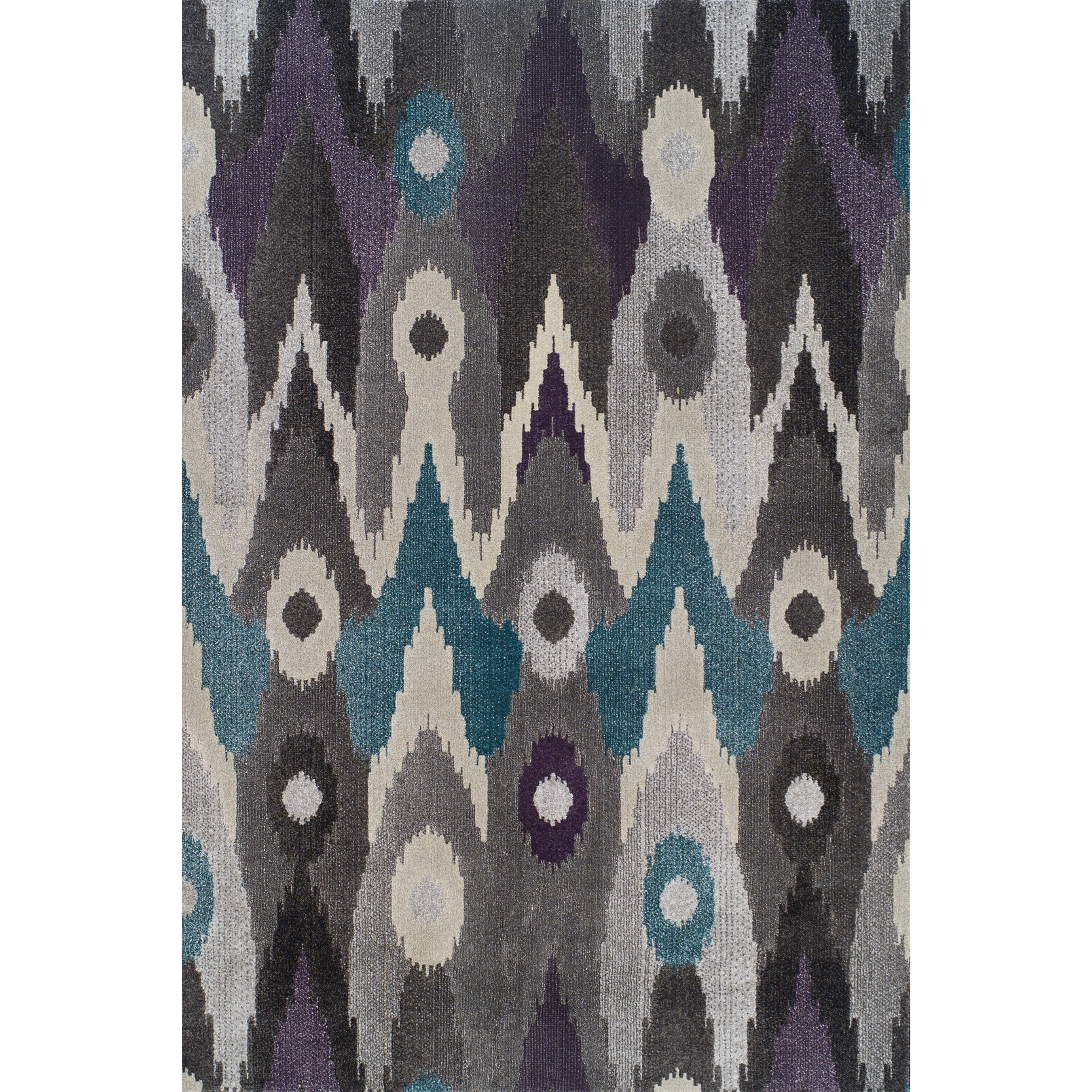 """Grand Tour Graphite 5'3""""X7'7"""" Rug by Dalyn at Fashion Furniture"""